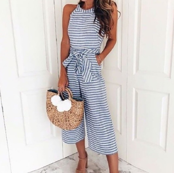 6dbcaa44328a Dresses   Skirts - Chambray striped jumpsuit